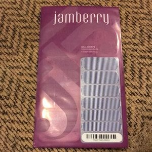 Jamberry navy skinny nail wraps